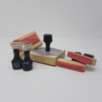 Base 10 rubber stamps